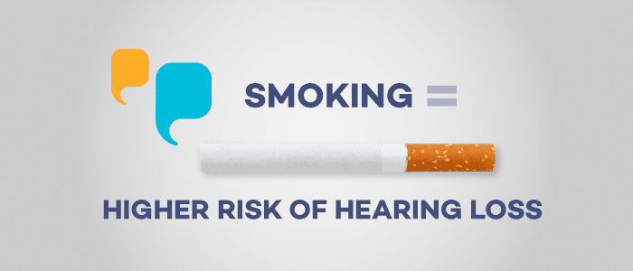 Smoking equals hearing loss