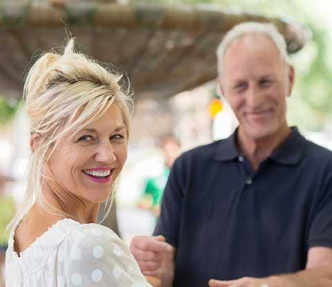 happy couple hearing aid